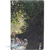 クロード?モネ モンソー公園 1878年 ブックカバー 文庫 a5 皮革 おしゃれ 文庫本カバー 資料 収納入れ オフィ…