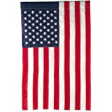"""Evergreen Classic American Double-Sided Appliqué Garden Flag - 12.5""""W x 18""""H"""