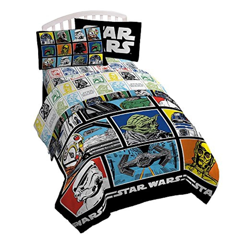 [ディズニー]Disney Star Wars Classic 3 Piece Twin Sheet Set JF27241T [並行輸入品]