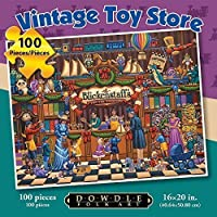 Jigsaw Puzzle - Vintage Toy Store 100 Pc By Dowdle Folk Art by Dowdle Folk Art