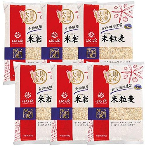はくばく 米粒麦 800g×6袋