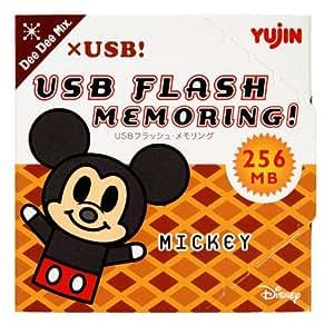 ユージン リング型USBメモリ DeeDeeMix×USB! USBフラッシュメモリング ミッキー 256MB Y965098