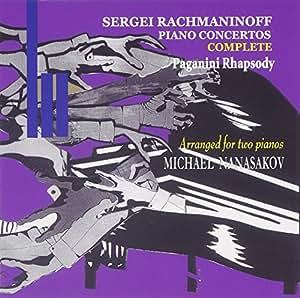 ラフマニノフ:ピアノ協奏曲全曲、パガニーニの主題による狂詩曲(ピアノ2台用編曲)