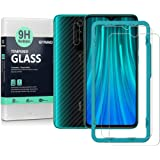 Ibywind Screen Protetor for Redmi Note 8 Pro [Pack of 2] with Camera Lens Tempered Glass Protector,Back Carbon Fiber Skin Pro