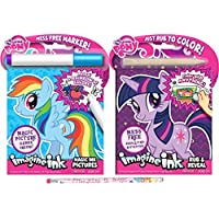 My Little Pony Mess Free Magic Ink Book and Rub and Revealバンドルwith鉛筆
