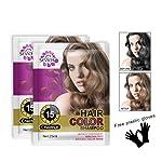 Onkessy Hair Dye 100% Plants Are Naturally Non-Irritating Hair Color Shampoo(Set)
