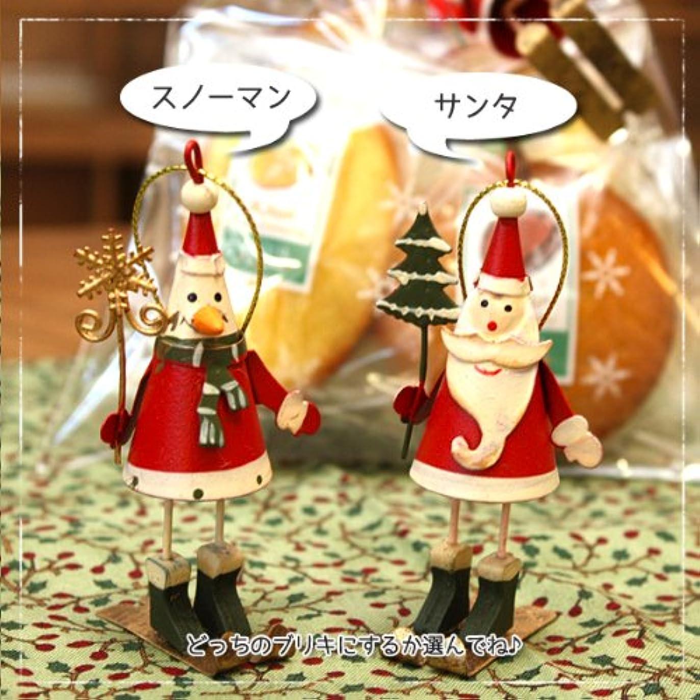 法律により状態シャッター可愛いサンタorスノーマンのブリキ&季節の焼き菓子のクリスマスギフトバッグ (スノーマン)