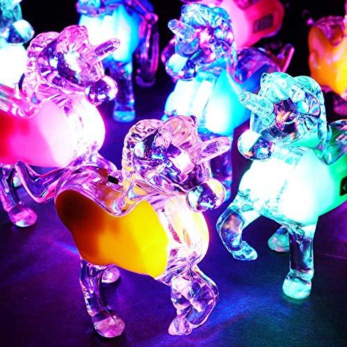 光る ユニコーン キーホルダー ( 25入 ) 光るおもちゃ 景品 子ども会 子供会 縁日 不良返品不可