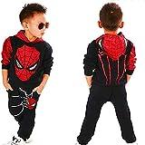 2Piece Toddler Kids Baby Boys Spiderman Outfits Set,Long Sleeve Pullover Hoodie Sweatshirt Pants Clothing Suit