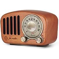 レトロラジオ AUX接続 高級 チェリー製 Mifine ビンテージ ブルートゥース Bluetooth 木製 FM MP3 プレーヤー クラシック 小型 携帯 大音量 高音質 高感度 重低音 ポータブルラジオ