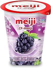Meiji Kyoho Grape W/Nata Yoghurt, 135 g- Chilled