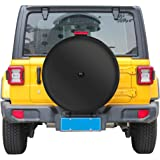 """Moonet 32"""" Tire Cover with Camera Hood for Jeep Wrangler JL (with Back-up Camera),2018-2020 Sport & Sahara,245/75R17,255/75R1"""