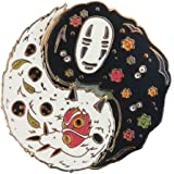 No Face Studio Ghibli Spirited Away Ying Yang Enamel Pin Japanese Ghost Fashion Accessory for Lapels, Denim Jackets, Hats, Ba