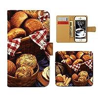 (ティアラ) Tiara GALAXY S8 SM-G950 スマホケース 手帳型 food 手帳ケース カバー 食べ物 フード ドーナツ パン スイーツ F0259040094302