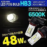 LED ハイビーム バルブ HB3 48w/12V ホワイト/EPISTAR プロジェクターレンズ ヘッドライト