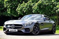 ラミネート36x 24ポスター: Auto Automobile自動車Benz Car CoupeデザインFastヘッドライトLuxuryラグジュアリーCars Mercedesメルセデス・ベンツメタリックモデルモーターパフォーマンス電源Prestige Race