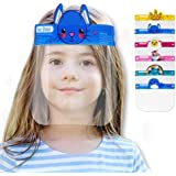 [O2 Lifecare] 6 Qty KIDS Face Shield, Face Cover with 6 Different from Each other Character Clear Visor Elastic Band & Confor