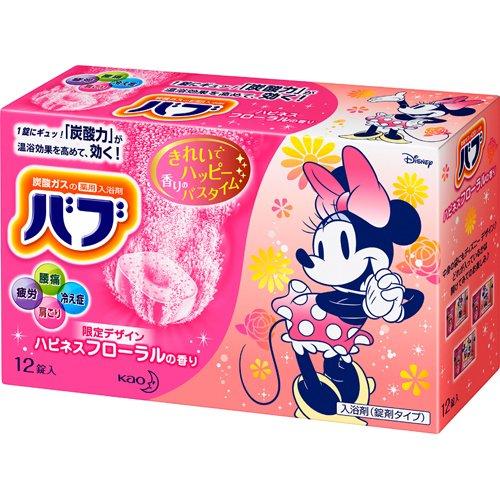 【数量限定】バブ ハピネスフローラルの香り ディズニーデザイン 12錠入