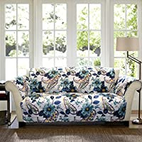 lush decor floral paisley slipcover furniture protector for sofa
