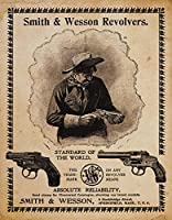 Smith & Wesson Tinメタルサイン: S & W Revolvers