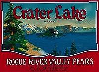 Crater Lake梨クレートラベル 24 x 36 Giclee Print LANT-2172-24x36