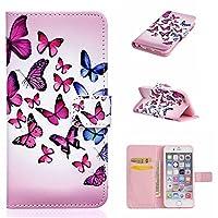 OMATENTI iPhone 6S iPhone 6 用 PUレザー手帳型ケース [無期限生涯補償付き] iPhone 6/6S (4.7インチ) 財布型 スタンド機能 マグネット 手作り ハンドメイド カード収納 耐摩擦 耐汚れ 全面保護 フリップ 人気 横開き スマートフォン カバー (ピンク, P5)