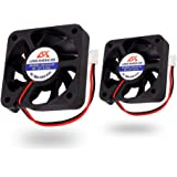Icstation 50mm X 50mm X 10mm 5010 2 Pin DC 12V 0.1A Silent Brushless Cooling Fan for 3D Printer Computer Sleeve Bearing 7 Bla