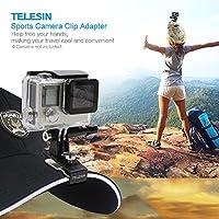 Rakuby TELESIN 野球ヘッド キャップハットバック パッククリップクランプマウント アダプター GoPro 4 SJCAM アクションスポーツカメラ用 アクセサリ