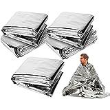 LXLUOO Emergency Blankets,Emergency Survival Blanket ,Field Emergency Blanket, Heat Reflective Waterproof Mylar Emergency Sur