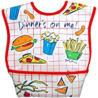 Dex Dura Bib Large for ages 6 - 24 Months - Dinner's on Me by Dexbaby