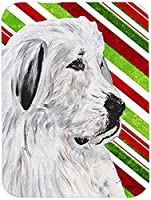 Carolines Treasures SC9810LCB Great Pyrenees Large Size Candy Cane Christmas Glass Cutting Board