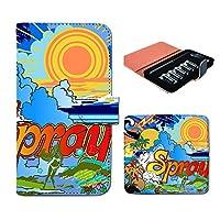 (ティアラ) Tiara プルームテック ケース ploom tech 専用 手帳型 カバー サーフィン ボード SURF 海 DP169040000001 サーフ 本体 充電器 たばこ カプセル 全部 収納 禁煙