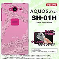 SH01H スマホケース AQUOS ZETA SH-01H カバー アクオス ゼータ ソフトケース レースB ピンク nk-sh01h-tp1099
