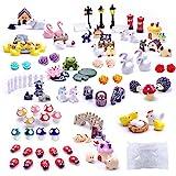 Dracarys Selected 100 Pieces Fairy Garden Accessories, Fairy Garden Kit, Fairy Garden Animals, Miniature Figurines, Micro Lan