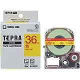 キングジム テープカートリッジ テプラPRO SC36YR 36mm 黄/赤文字