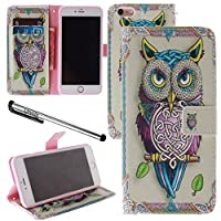 Urvoix For 5.5'' iPhone 6 Plus/ 6S Plus Weave Owl PU Leather Flip Wallet Case Cover - w/Picture on Card Holder Magnetic Closure for iPhone 6Plus /6SPlus (NOT fits iPhone6/6S) [並行輸入品]