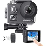 AKASO V50 Elite 4K/60fps Touch Screen WiFi Action Camera Voice Control EIS 40m Waterproof Camera Adjustable View Angle 8X Zoo