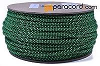 Boredパラコードブランド550タイプIIIパラコード–ネオングリーンダイヤモンド–250フィートスプール