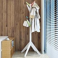 コートラックシンプルでモダンなクリエイティブな木製ハンガーソリッドウッドもっと色が強いベアリング能力実用的な安定した着陸ハンガーベッドルーム衣服ラック ( 色 : F f )