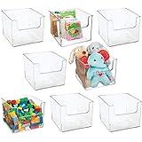 mDesign Deep Plastic Home Storage Organizer Bin for Cube Furniture Shelving in Office, Entryway, Closet, Cabinet, Bedroom, La