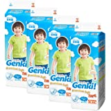Nepia Genki Premium Soft Tape XL44, XL, 176 count (Pack of 4)