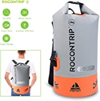 Rocontrip Waterproof Dry Bag, Roll Top Dry Compression Dry Sack with Detachable Shoulder Strap for Kayaking, Beach,...