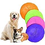 【4個セット】 犬 おもちゃ フリスビー 投げるおもちゃ シリコン製 ソフト フライングディスク おもちゃ 犬用スポーツディス ペットおもちゃ 歯耐性ゴム ストレス解消 運動不足解消 知能訓練 小型犬/中型犬/大型犬に適応