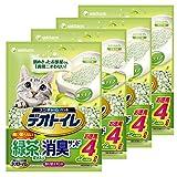 デオトイレ 1週間消臭・抗菌 飛散らない緑茶成分入り・消臭サンド 4L×4個入り  【ケース販売】