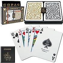 COPAG(コパッグ) 1546 プラスチックトランプ ブラック/ゴールド ポーカーサイズ レギュラーインデックス