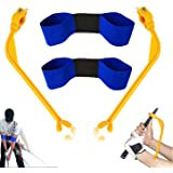 Golf Swing Training Aids, 4 Pack Golf Swing Correcting Tool and Swing Training Aid Arm Band, Unisex Golf Posture Motion Corre