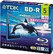 TDK �^��p�u���[���C�f�B�X�N BD-R 25GB 1-6�{�� �z���C�g���C�h�v�����^�u�� 5���p�b�N 5mm�X�����P�[�X BRV25PWC5A