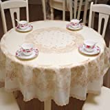 Lace Round Tablecloth Premium Quality polyester Spillproof Wrinkle Resistant Reusable Table Cloths for Restaurant, hotels, Bu