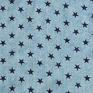 手芸のいとや 生地 ダブルガーゼ デニム風ガーゼ スターブルー 生地幅-約108cm×50cm 綿100%