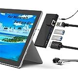 Surface Goドッキングステーション、5 in 1 SurfaceGoドッキングステーションUSBCハブHDMIアダプター、1000M RJ45イーサネット、4K HDMI、2 USB 3.0ポート、Microsoft Surface Go用オ